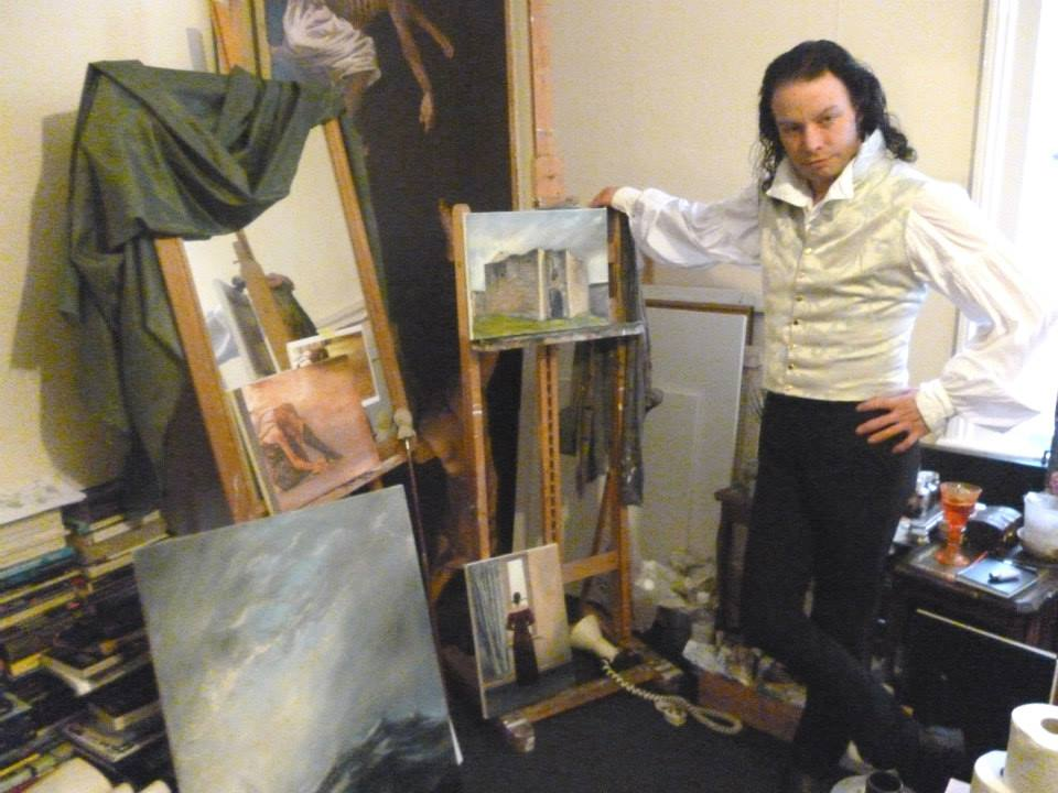 Andris Wood in his home studio