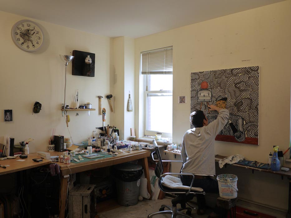 Hiro Kurata's working space | Photo from www.fromyourdesks.com (fair use)