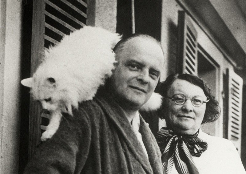 Paul Klee and Bimbo (1935) | From www.thegreatcat.org (fair use)