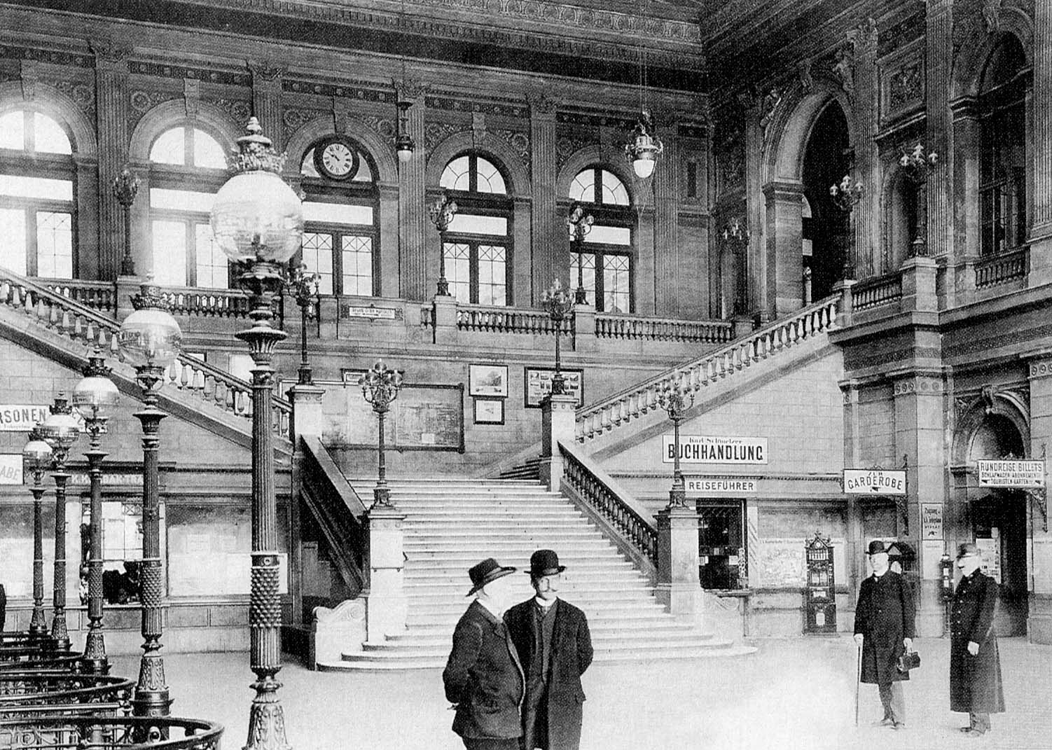 Vienna Südbahnhof South train station (circa 1900)