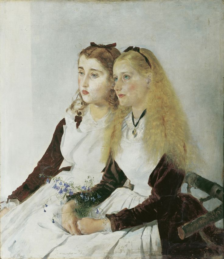 Anton Romako: The Artist's Nieces Elisabeth and Maja (1873)