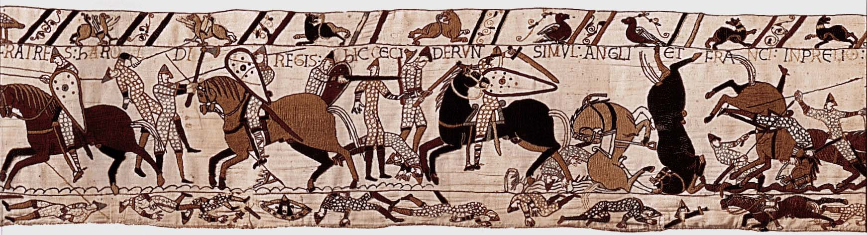 Bayeux Tapestry: Normans battle