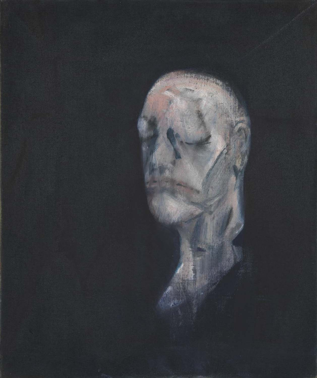 Francis Bacon: Study for Portrait II (after the Life Mask of William Blake),1955 | Image from Tate Gallery (fair use)