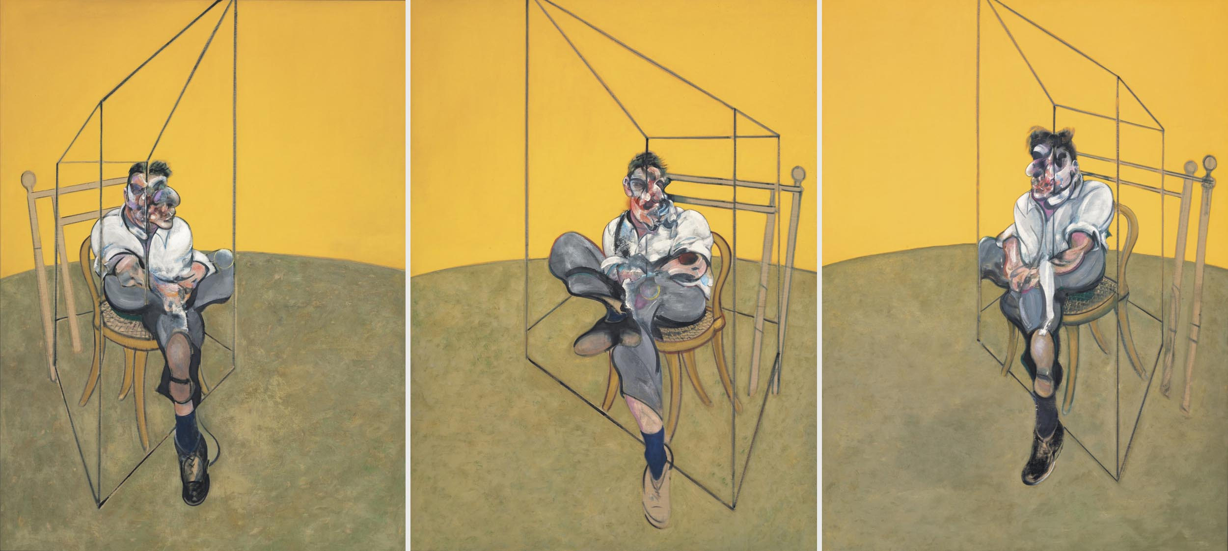 Francis Bacon: Three Studies of Lucian Freud (1969)