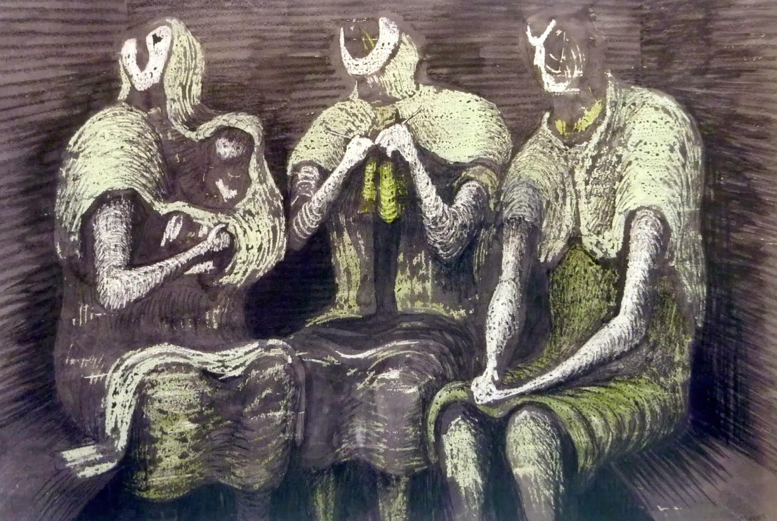 Henry Moore: Shelter drawings Three Fates (1941) | © The Henry Moore Foundation (fair use)