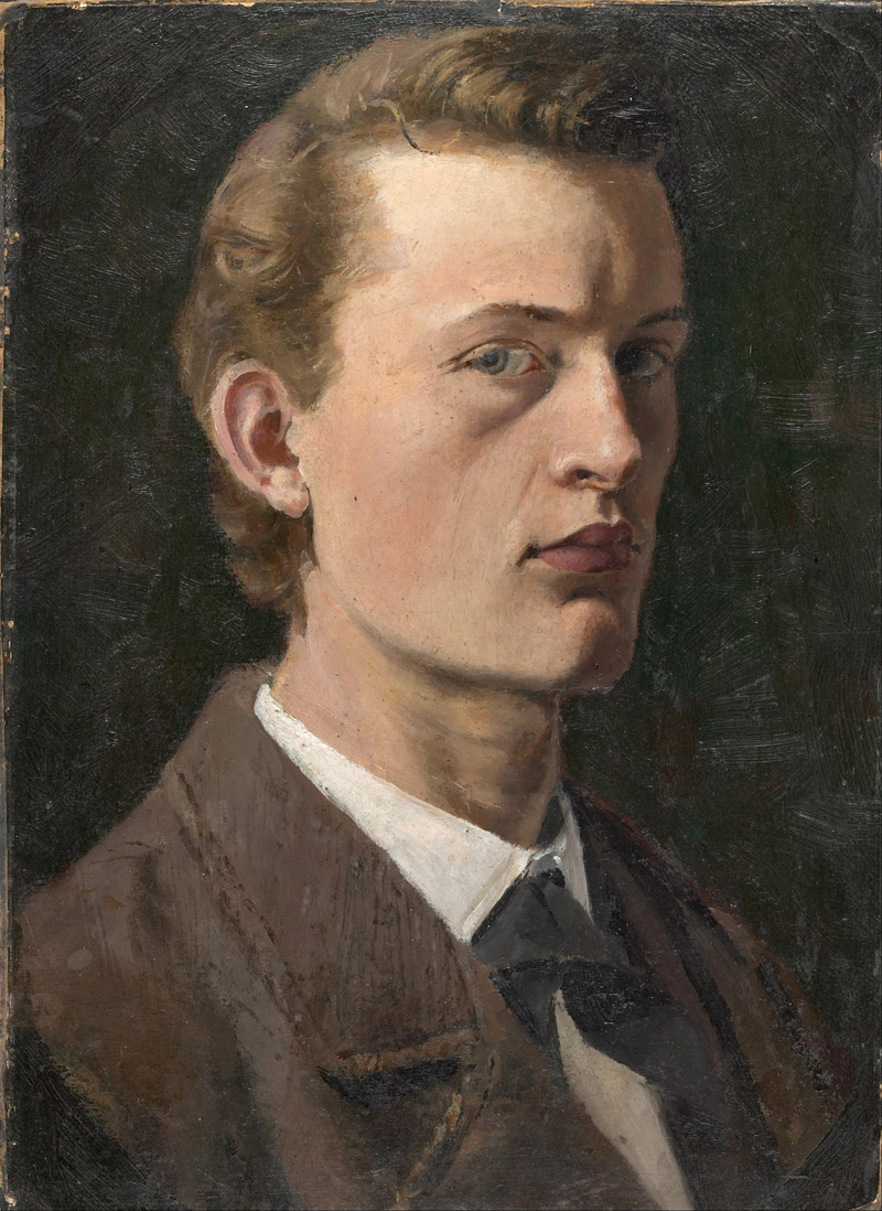 Edvard Munch: Self-Portrait (1882)