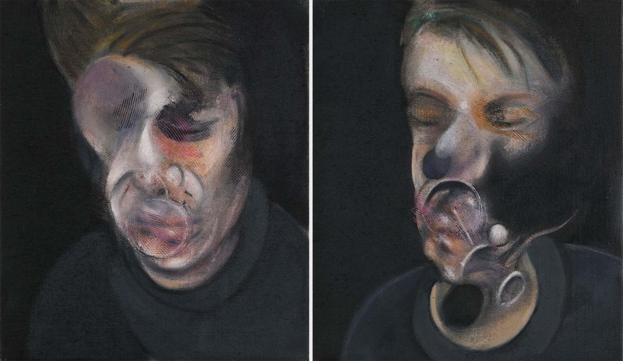 Francis Bacon: Two Studies for Self-Portrait (1977) | Image from Observer
