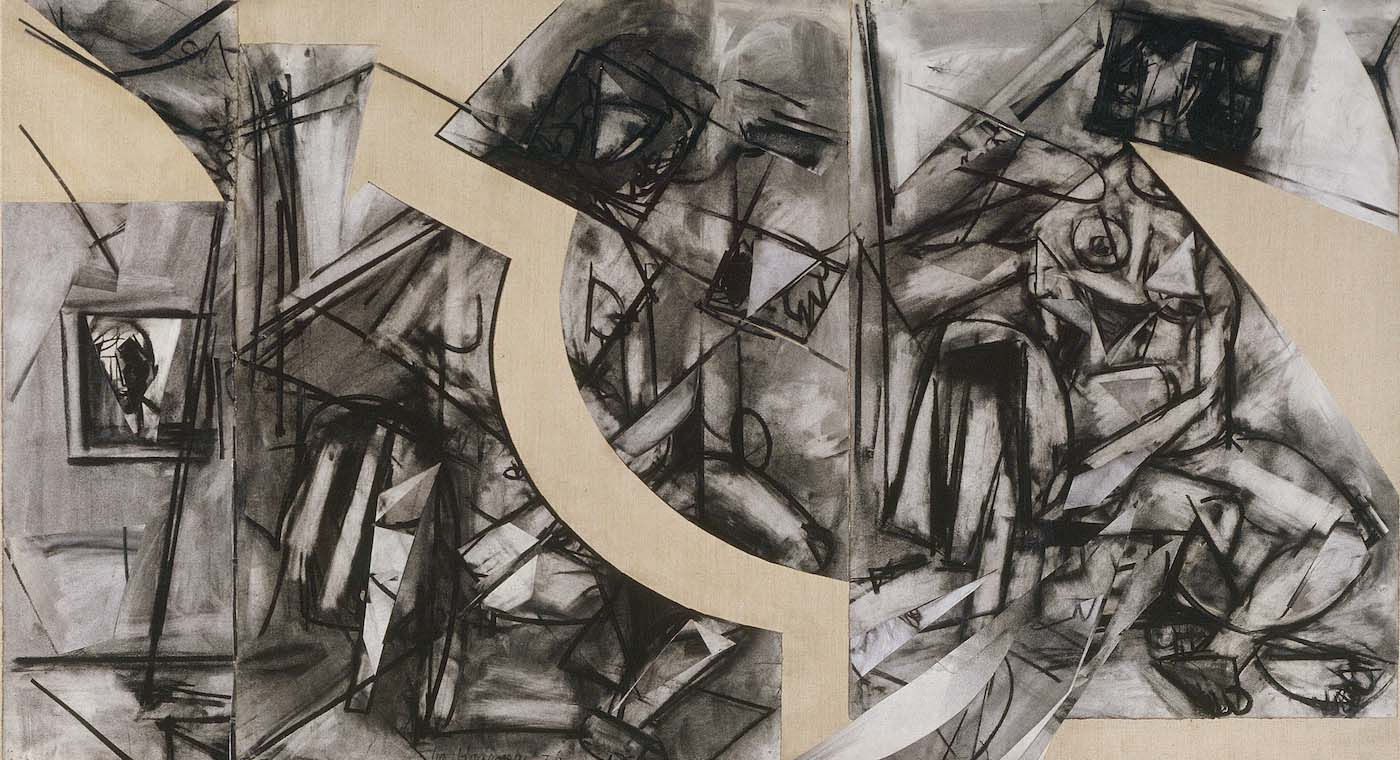 Lee Krasner: Past Conditional (1976) | Image from Hyperallergic (fair use)