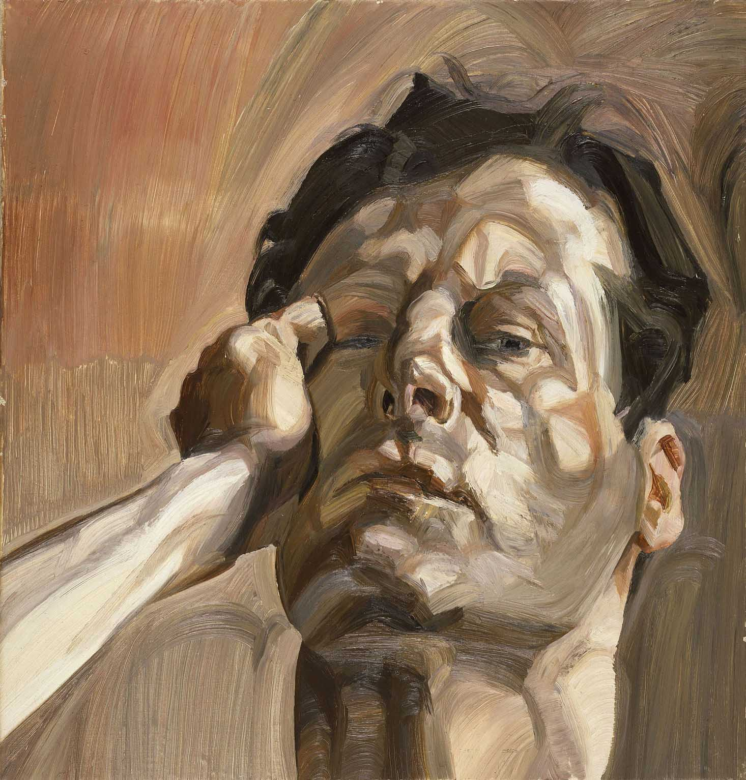 Lucien Freud: Man's Head (Self-Portrait, 1963)