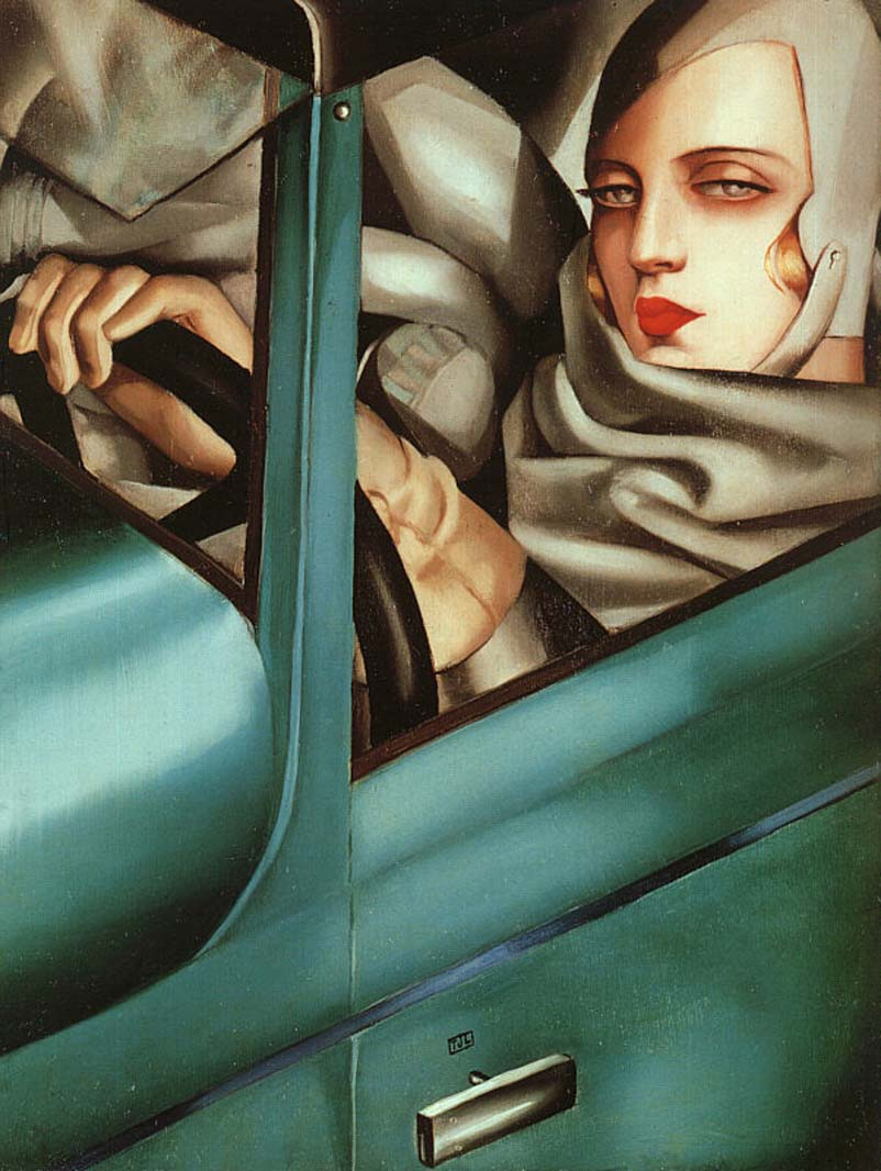 Tamara De Lempicka: Tamara in the Green Bugatti (1925)