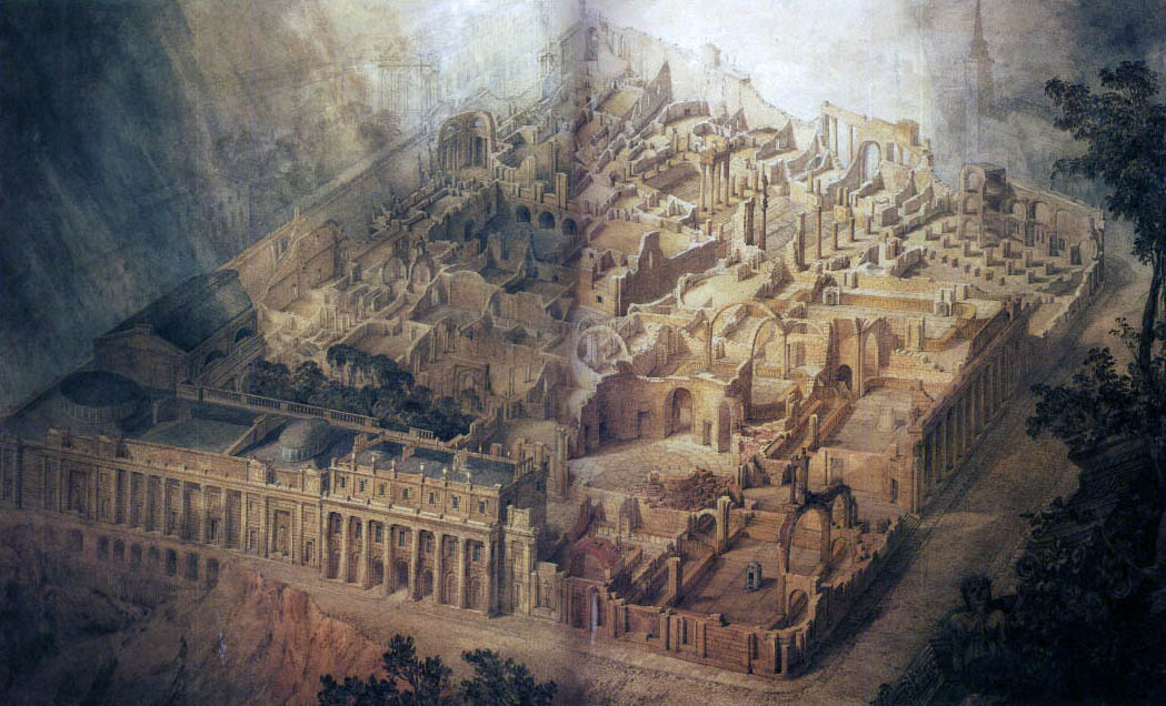 Joseph Michael Gandy: An imagined view of the Bank of England in ruins (1830)