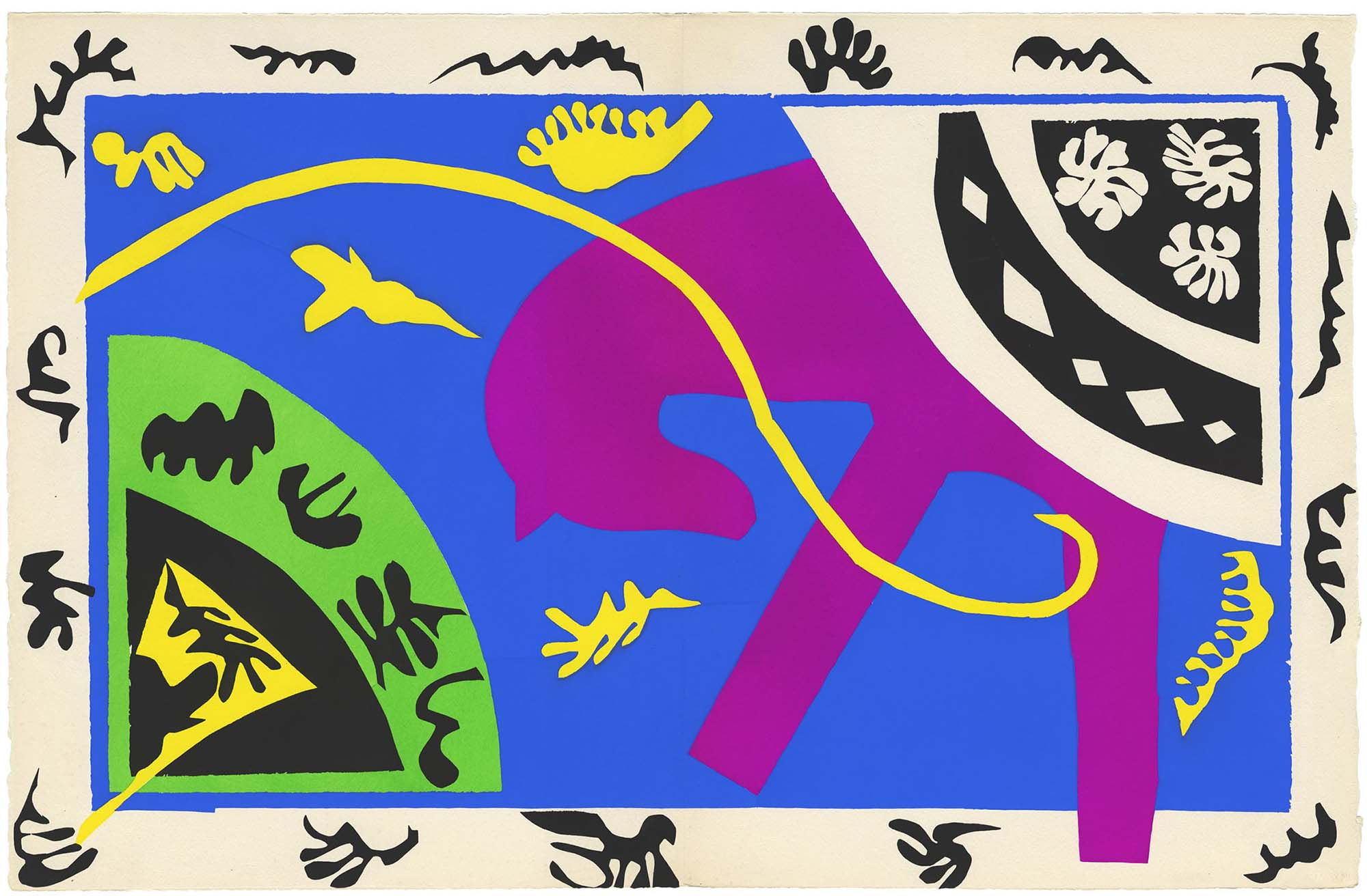 "Henri Matisse: The Horse, the Rider, and the Clown 1943-4 from the illustrated book ""Jazz"" 