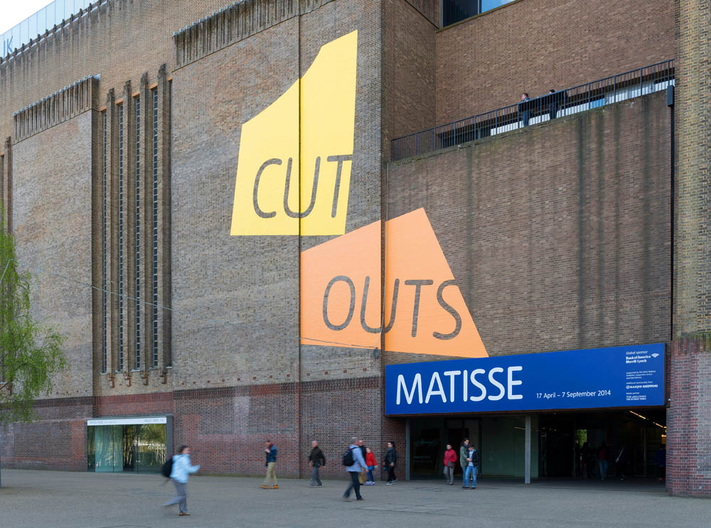 Henri Matisse: The Cut-Outs at Tate Modern (2014), graphics created by Cartlidge Levene | Image from www.cartlidgelevene.co.uk (fair use)