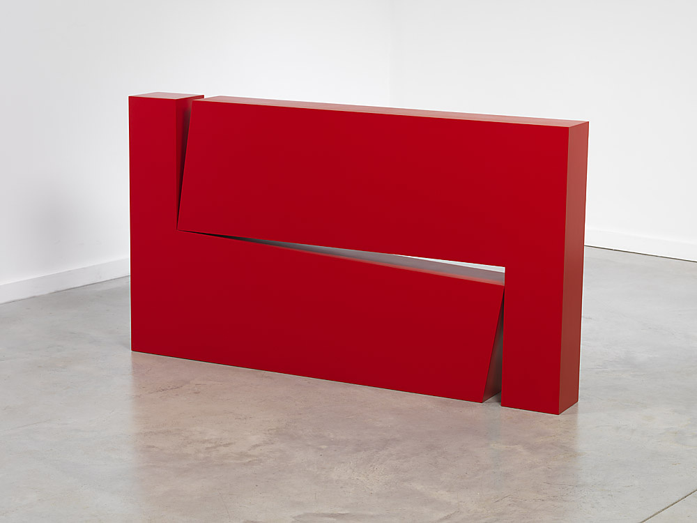 Carmen Herrera: Estructura Roja (1966/2012) | Image from Lisson Gallery (fair use)