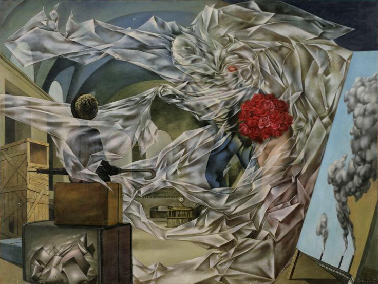Dorothea Tanning: A Very Happy Picture, 1947 | From Dorothea Tanning Foundation (fair use)