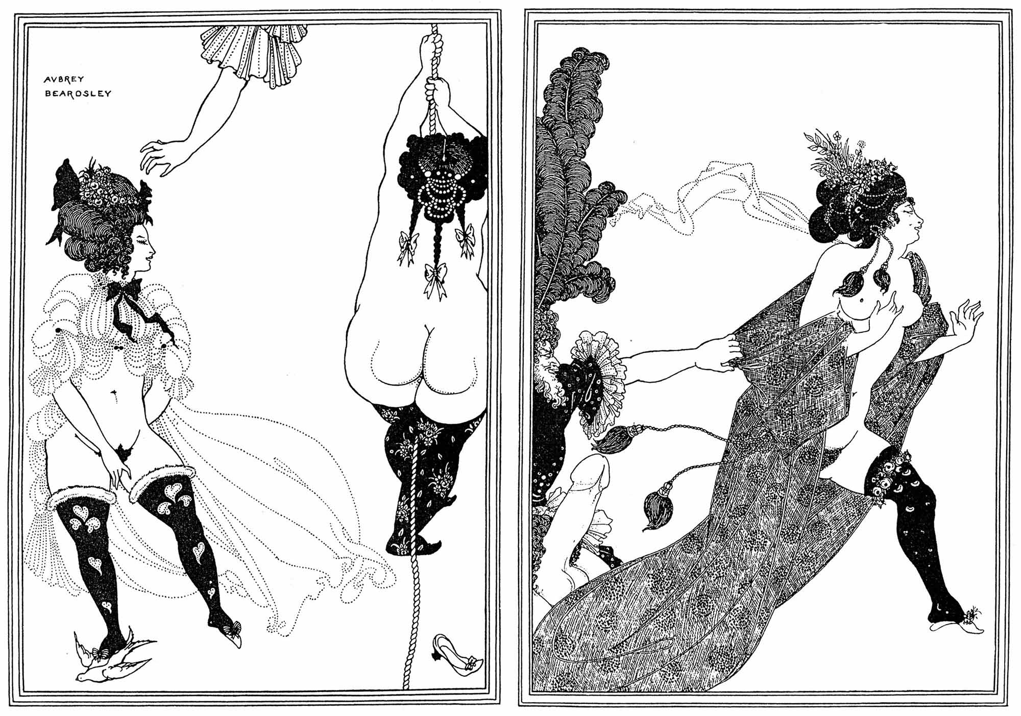 Aubrey Beardsley: Lysistrata | Images from www.ebooks.adelaide.edu.au (fair use)